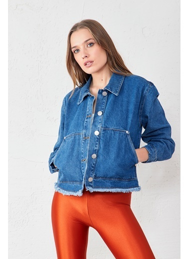 EKA Çift Cep Düğmeli Kot Ceket Mavi